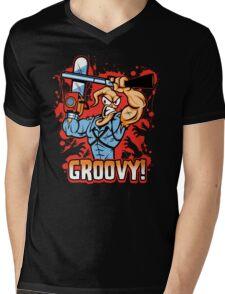 Earthworm Ash Mens V-Neck T-Shirt
