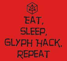 Ingress - Eat, Sleep, Glyph, Repeat - Enlightenment One Piece - Short Sleeve