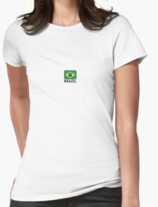 National flag of Brazil Womens Fitted T-Shirt