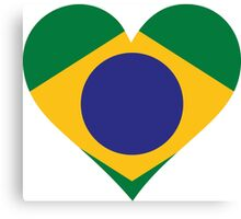 A Heart for Brazil Canvas Print