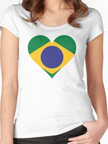 A Heart for Brazil Women's Fitted Scoop T-Shirt