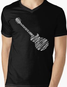 Les Paul Sketch Mens V-Neck T-Shirt