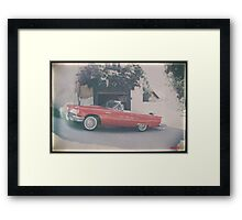 classic t-bird automobile Framed Print