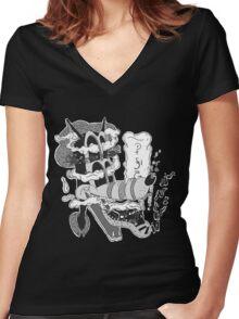 Gooney Toon T-shirt Women's Fitted V-Neck T-Shirt
