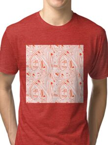 Seamless hand drawing pattern of city Tri-blend T-Shirt