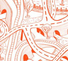 Seamless hand drawing pattern of city Sticker