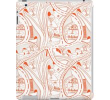 Seamless hand drawing pattern of city iPad Case/Skin