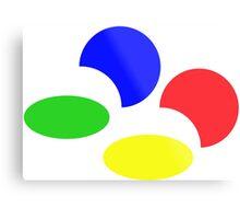 Super Nintendo SNES four colors quadcolor Metal Print