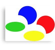 Super Nintendo SNES four colors quadcolor Canvas Print