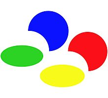 Super Nintendo SNES four colors quadcolor Photographic Print