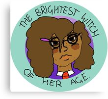 The Brightest Witch Of Her Age Hermione Granger Canvas Print