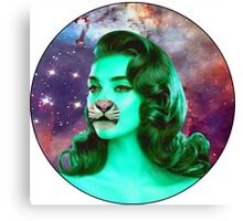 Psychedelic Tiger Pin Up Canvas Print