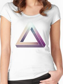 Penrose Triangular Universe Women's Fitted Scoop T-Shirt