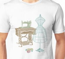 Dressmaker Kit of Dress Form, Sewing Machine and T Unisex T-Shirt
