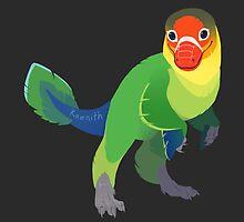 Dino Birds - Fischer's Lovebird by kaenith