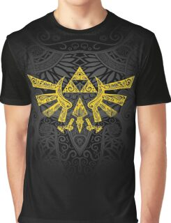 Hyrule Emblem Yellow Graphic T-Shirt