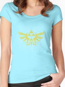 Hyrule Emblem Yellow Women's Fitted Scoop T-Shirt