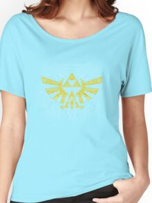 Hyrule Emblem Yellow Women's Relaxed Fit T-Shirt