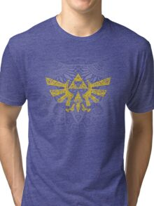 Hyrule Emblem Yellow Tri-blend T-Shirt