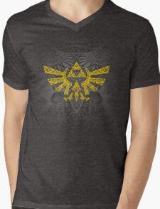 Hyrule Emblem Yellow Mens V-Neck T-Shirt