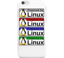 Powered By Linux iPhone Case/Skin