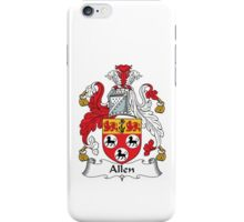 Allen Family Crest Heraldic Shield iPhone Case/Skin