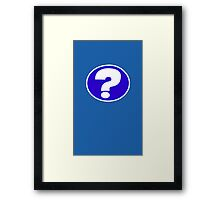 mystery question Framed Print