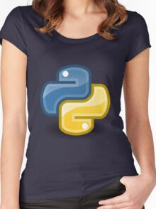 Python logo Women's Fitted Scoop T-Shirt