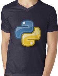 Python logo Mens V-Neck T-Shirt