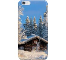 Cabin in beautiful winter landscape iPhone Case/Skin