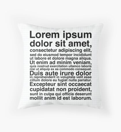 Lorem Ipsum - Griddy With Happiness Throw Pillow