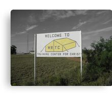 White River Sign Canvas Print