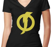 Static Shock  Women's Fitted V-Neck T-Shirt