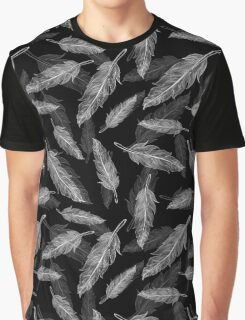 Black and white feathers pattern  Graphic T-Shirt