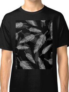 Black and white feathers pattern  Classic T-Shirt