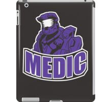 medic design- red vs blue iPad Case/Skin