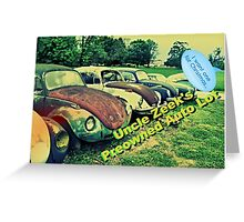 """Uncle Zeek's Preowned Auto Lot""... prints and products Greeting Card"