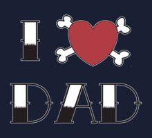 I (Love) Heart Dad Tattoo Kids Tee