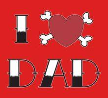 I (Love) Heart Dad Tattoo One Piece - Long Sleeve