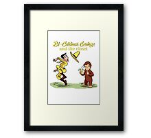Kids TV show parodies - #1. Bi-Curious George Framed Print
