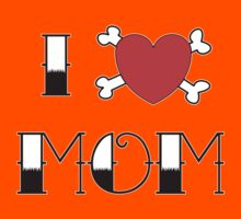 I (Love) Heart Mom Tattoo Kids Tee