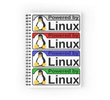 Powered By Linux Spiral Notebook
