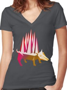Popsicle Dog Women's Fitted V-Neck T-Shirt