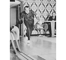 President Richard Nixon Bowling At The White House Photographic Print