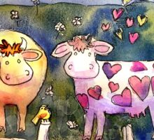 Cows In Love Sticker