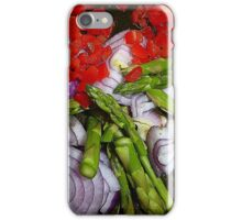 Asparagus Tips And Red Chilli iPhone Case/Skin