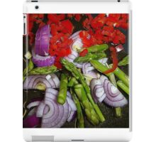 Asparagus Tips And Red Chilli iPad Case/Skin