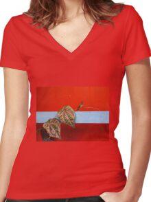 ... Women's Fitted V-Neck T-Shirt