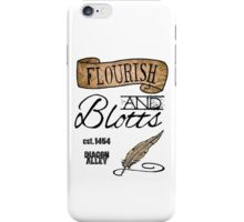Flourish & Blotts. iPhone Case/Skin