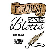 Flourish & Blotts. Photographic Print